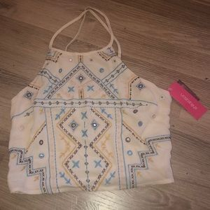 NWT HIGH NECK CROP TOP